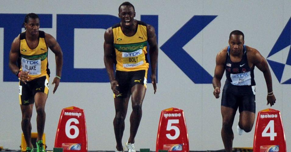 Favorito ao ouro, Usain Bolt queima largada na final dos 100 m rasos e perde chance de conquistar o bicampeonato mundial