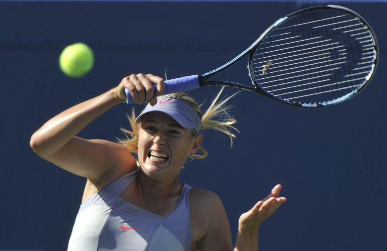 Maria Sharapova avançou no US Open, mas teve que batalhar para conquistar a vitória por 2 sets a 1 sobre Heather Watson