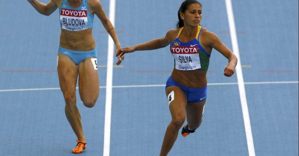 Brasileira Ana Claudia Lemos Silva brilhou no Troféu Brasil, mas não foi longe em Daegu
