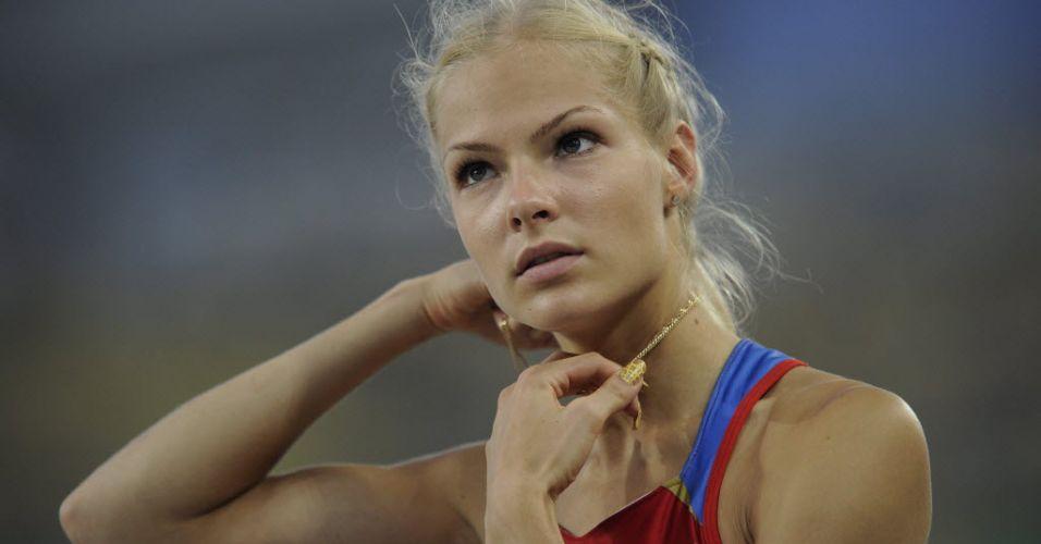 Russa Darya Klishina compete na final do salto em distância no Mundial de Daegu