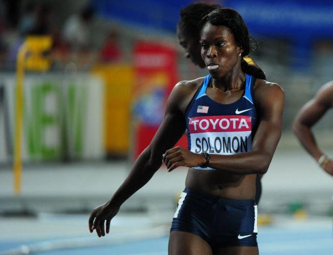 Shalanda Solomon, dos Estados Unidos, conquistou o melhor tempo das semifinais dos 200m femininos e vai à final como uma das favoritas.