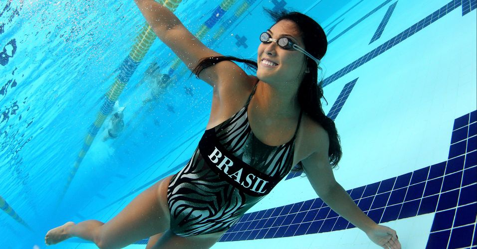 Brasileira é especialista no nado peito