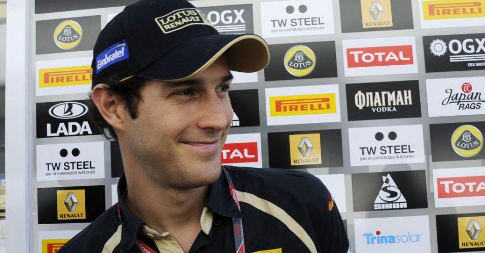Bruno Senna concede entrevista coletiva no paddock antes de ir para a pista nos treinos livres de Suzuka