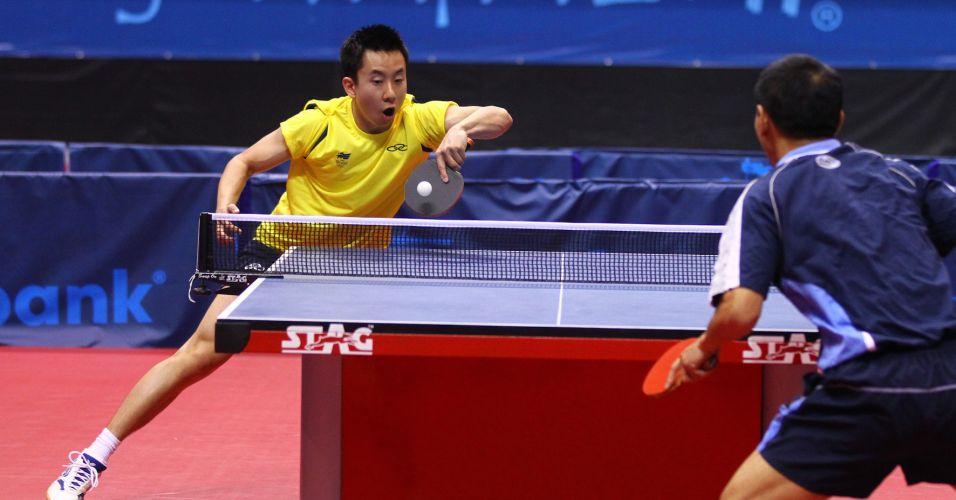 A partida entre o Gustavo Tsuboi e Liu Song terminou com uma vitória brasileira por 3 sets a 0