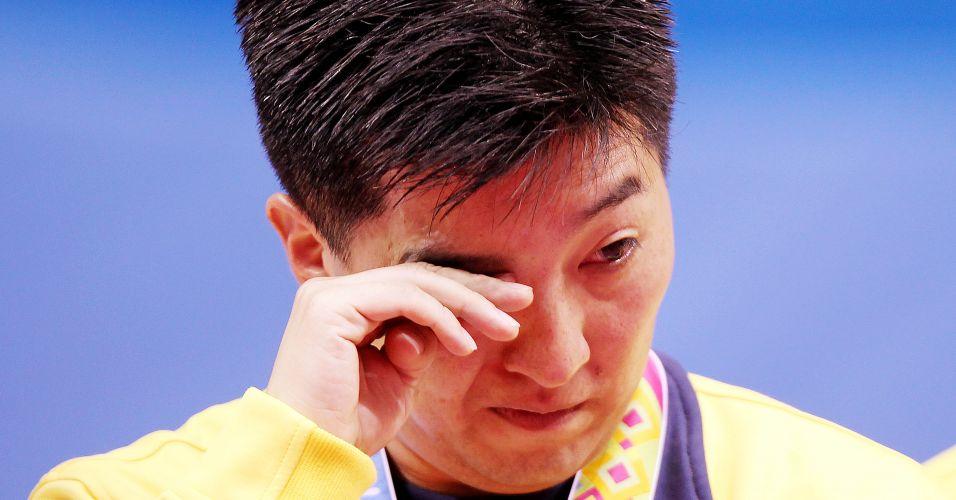 Hoyama se emociona com a 10ª medalha de ouro conquista por ele em jogos Pan-Americanos