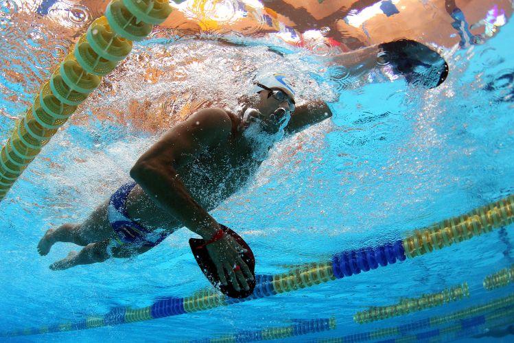 Lucas Kanieski e toda a equipe da natação brasileira fazem preparação para o Pan-Americano de Guadalajara no CT de La Loma