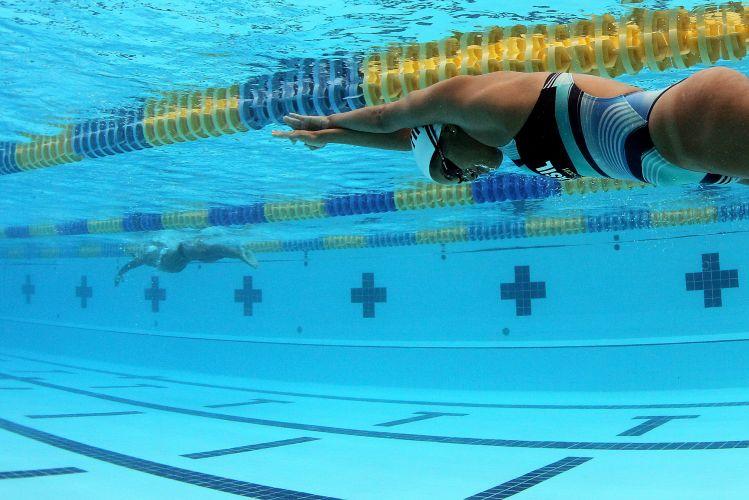 Sarah Correa e toda a equipe da natação brasileira fazem preparação para o Pan-Americano de Guadalajara no CT de La Loma, no México