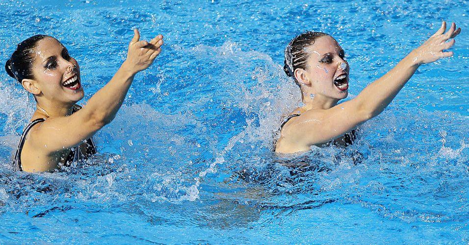Lara Teixeira e Nayara Figueira conquistaram a medalha de bronze no dueto do nado sincronizado