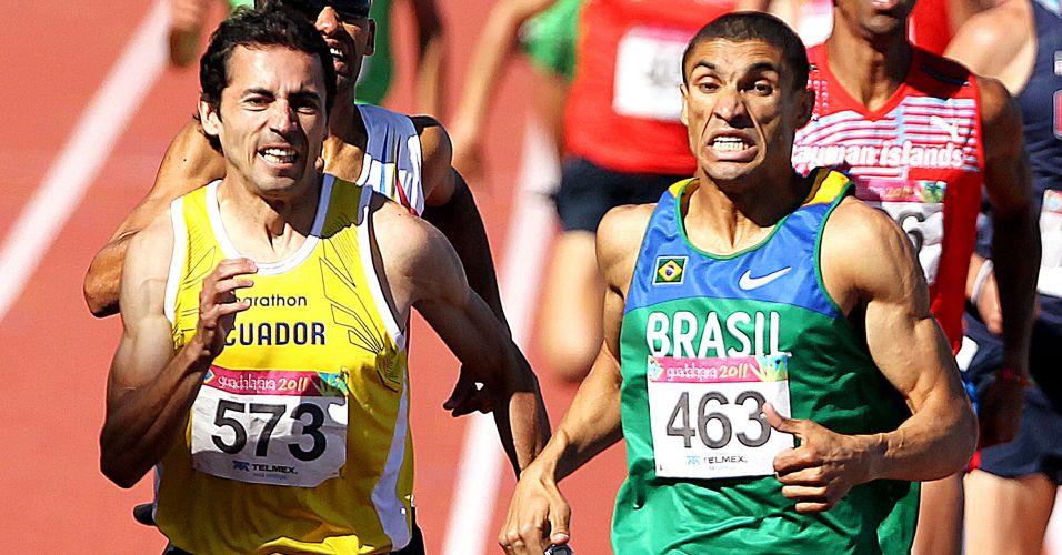 Leandro Prates venceu a final dos 1.500 m por apenas um centésimo de segundo