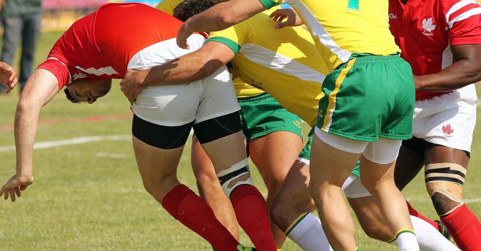 Os brasileiros foram dominados pelo Canadá e perderam por 45 a 0 no rúgbi