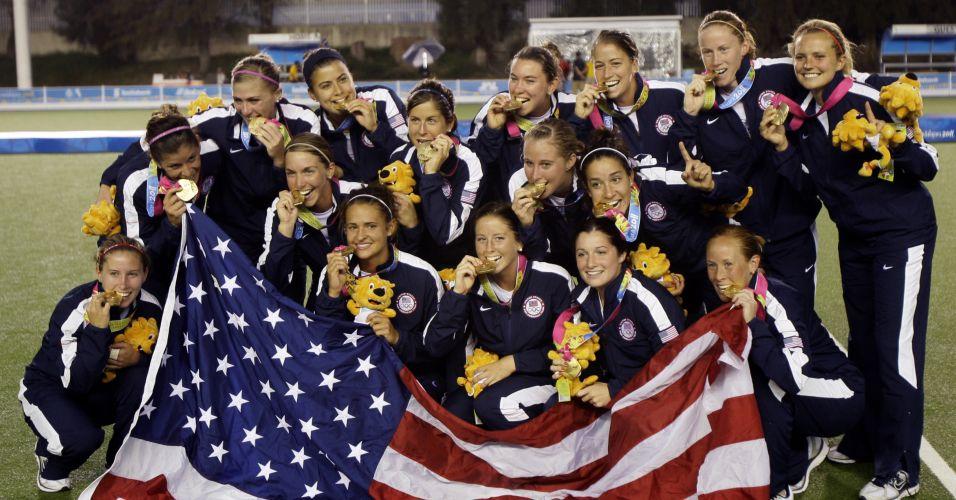 Os Estados Unidos foram campeões no hóquei na grama em Guadalajara depois de derrotarem a Argentina na final por 4 a 2