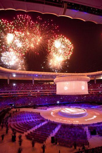 Festa de encerramento do Pan de Guadalajara tem início, com direito a show de imagens e luzes, além da presença dos atletas