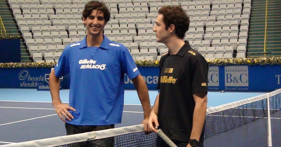 Thomaz Bellucci e Bruno Senna propõem novo desafio em 2012 com simulador e quadra de tênis