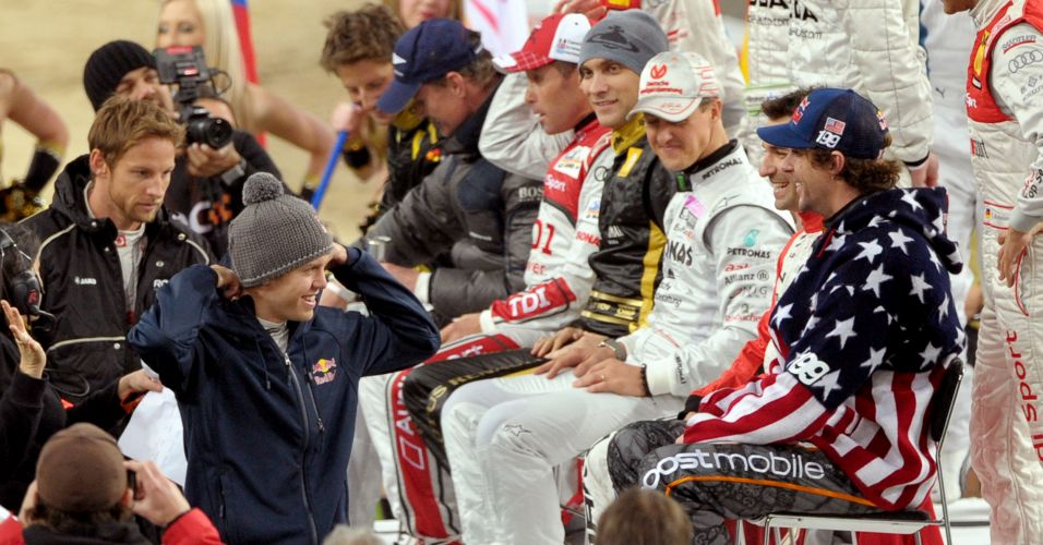 Michael Schumacher, Sebastian Vettel, Jenson Button e Vitaly Petrov foram alguns dos pilotos que estiveram no evento