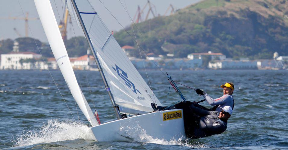Vela - A dupla formada por Robert Scheidt e Bruno Prada venceu 10 dos 12 campeonatos que disputou em 2011, inclusive o evento teste para as Olimpíadas de Londres, na classe star