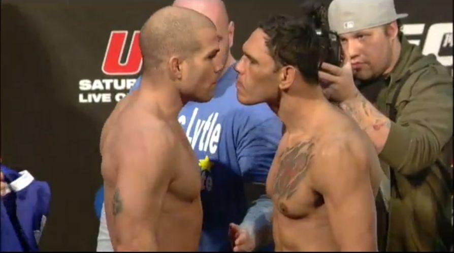 Tito Ortiz e Rogério Minotouro deram uma das encaradas mais tensas do UFC 140