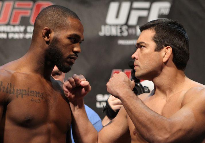 Jones e Lyoto se encaram na pesagem do UFC 140