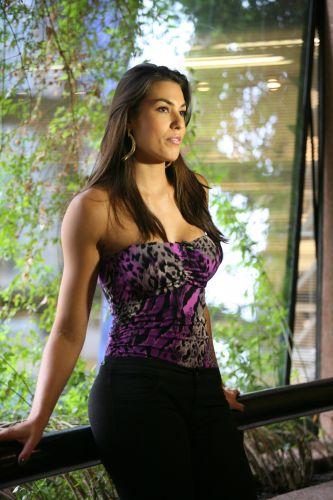 A jogadora de vôlei Luciane Escouto foi elogiada em seu teste para modelo pela cor da pele, que seria interessante para trabalhos como modelo no exterior.