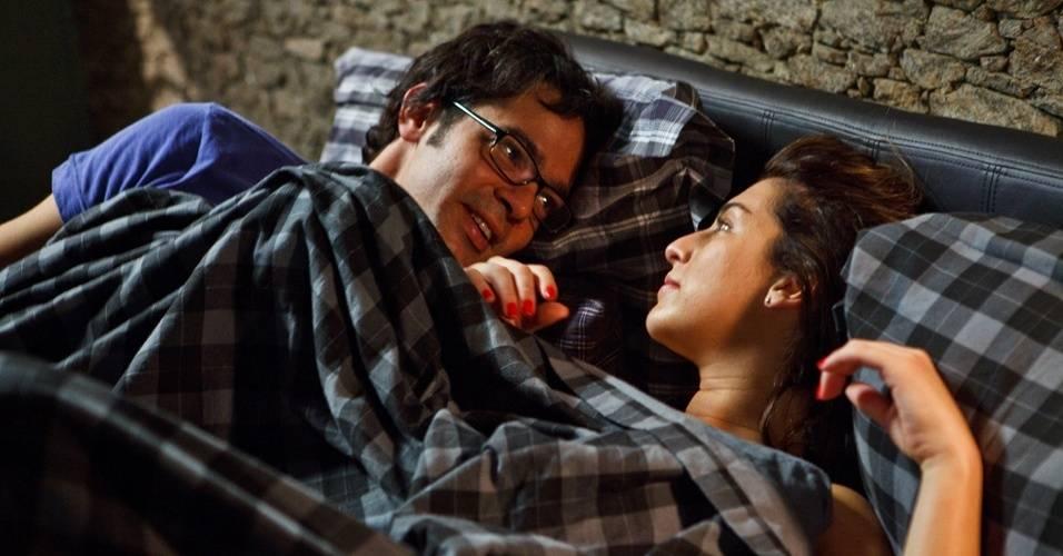 Fernanda Paes Leme em cena com o ator Bruno Mazzeo no filme