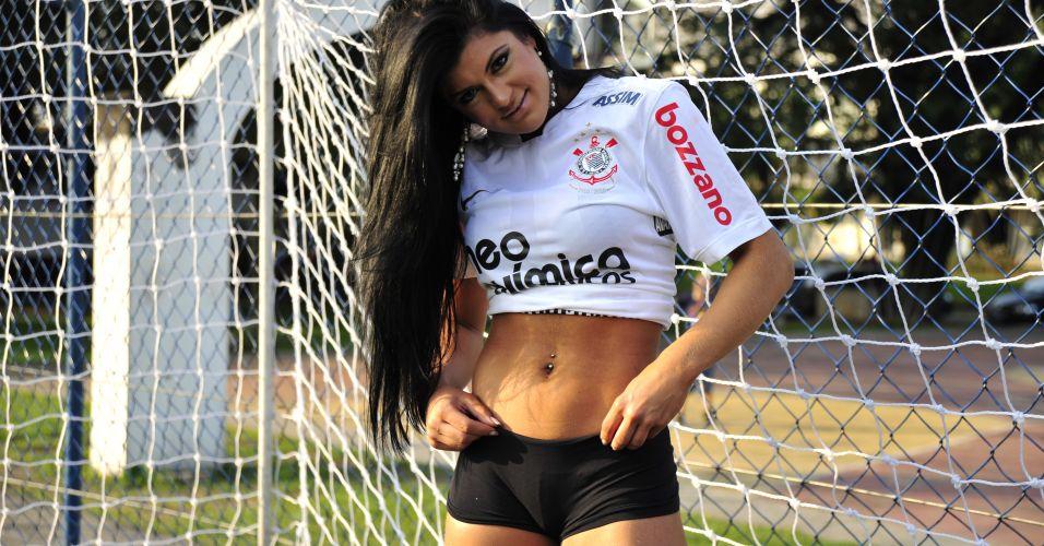 Camila Vernaglia é a gata do Corinthians