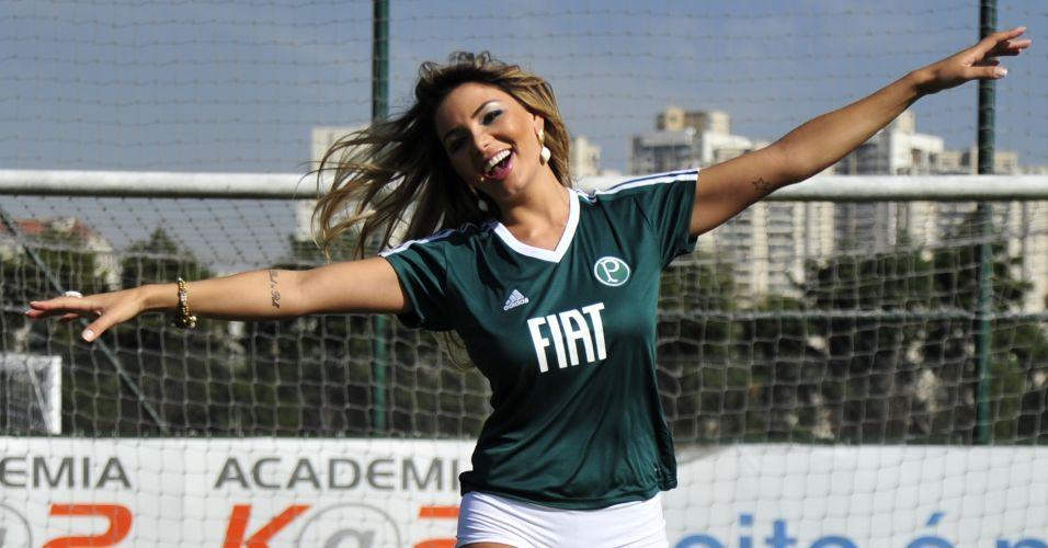 Tassiana Dunamis é a gata do Palmeiras