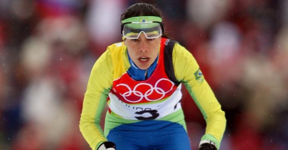 Jaqueline Mourão disputou suas primeiras Olimpíadas de Inverno em Turim-2006
