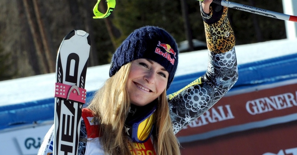Lindsey Vonn, estrela do esqui downhill, pelos EUA