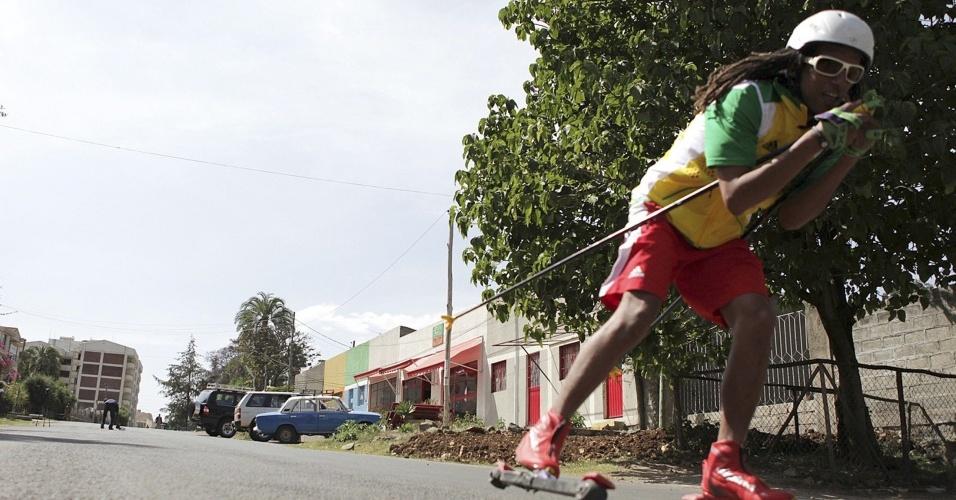 Robel Teklemariam, da Etiópia, disputa as Olimpíadas de Inverno pela 2ª vez