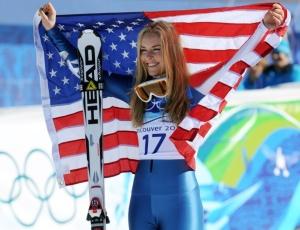 Estrela da delegação dos EUA, Lindsey Vonn decepcionou e ficou com a medalha de bronze
