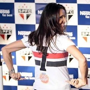 Maurren Maggi é apresentada no São Paulo