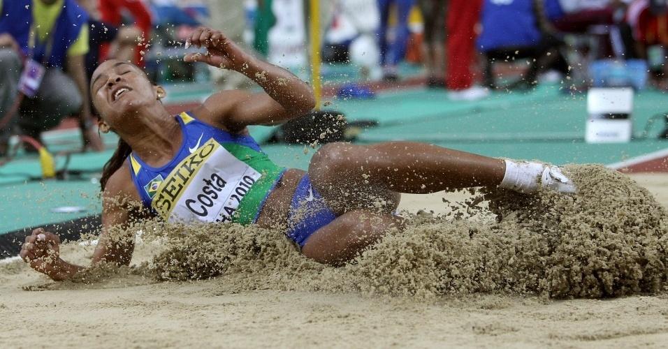 Keila Costa está na final do salto em distância no Mundial Indoor de Doha