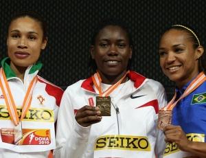 Keila Costa divide o pódio com Bridge Reese e Naide Gomes, ouro e prata no salto em distância