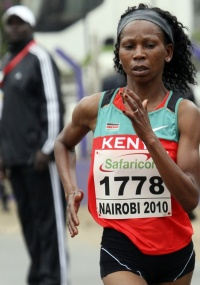 A queniana Grace Wanjiru bateu o recorde continental