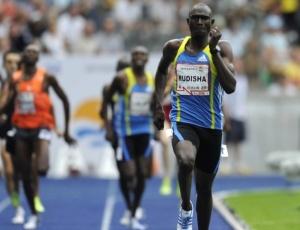 David Lekuta Rudisha, do Quênia, corre os 800m no meeting de Berlim para quebrar recorde mundial