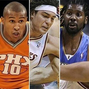 Trio de brasileiros na NBA: Leandrinho, do Phoenix, Varejão, do Cleveland, e Nenê, do Denver