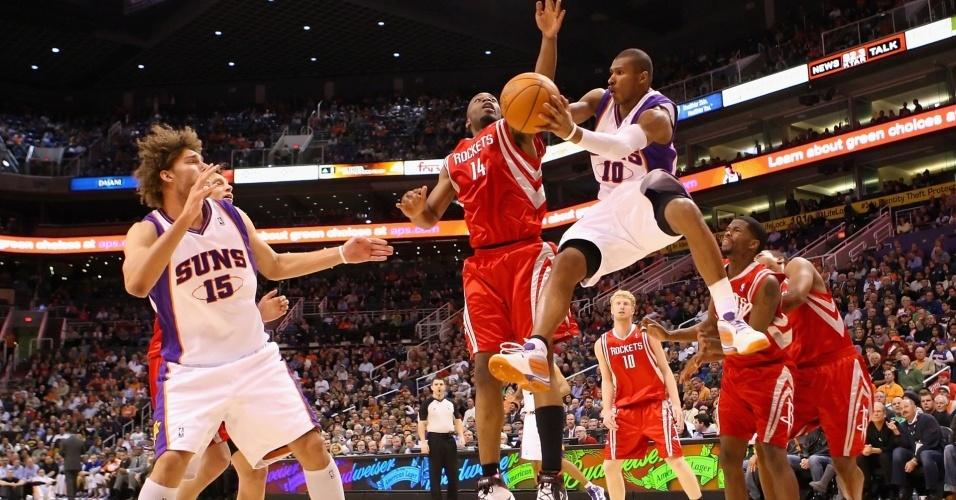 Leandrinho, do Phoenix Suns, contra o Houston Rockets