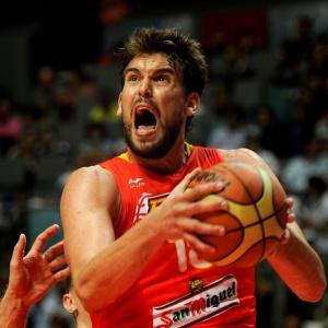Marc Gasol foi um dos destaques da invicta Espanha na vitória sobre a Lituânia em amistoso