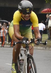 Janildes Fernandes chega em quarto lugar na prova de ciclismo