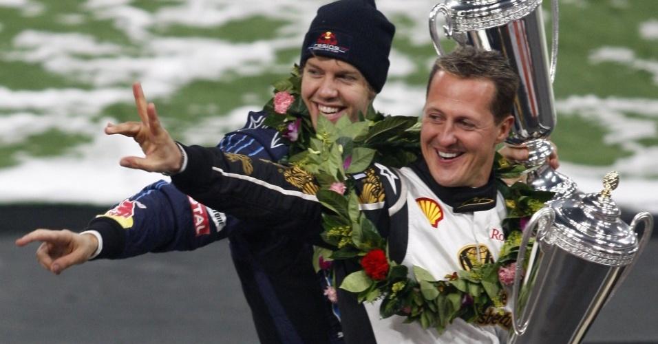 Antes de Vettel, o único piloto de F-1 a receber o prêmio foi Schumacher