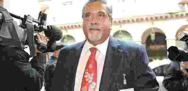 O chefe da Force India, Vijay Mallya, foi detido nesta terça-feira  - Bertrand Guay/ AFP PHOTO