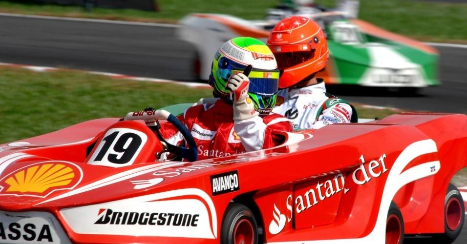 Massa conquistou a vitória, com Schumacher em segundo. Assim, o alemão ficou com título do Desafio