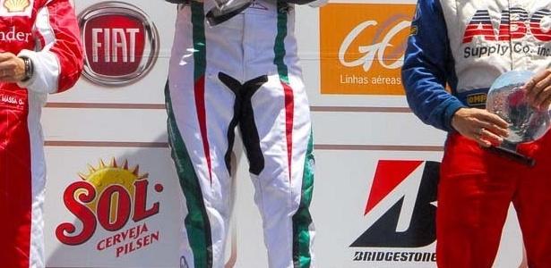 Schumacher e Massa no pódio do Desafio das Estrelas de kart
