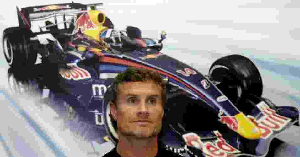 Coulthard participa de entrevista coletiva quando corria pela Red Bull - Samuel Kunabi/AFP