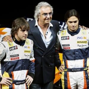 Briatore, Alonso e Nelsinho nos tempos de Renault