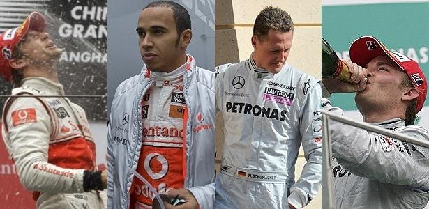 Button e Rosberg contrariam previsões sobre rivalidades internas