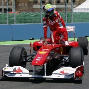 Felipe Massa fez o sétimo melhor tempo no treino desta sexta-feira e ainda rodou em Valência (ESP)