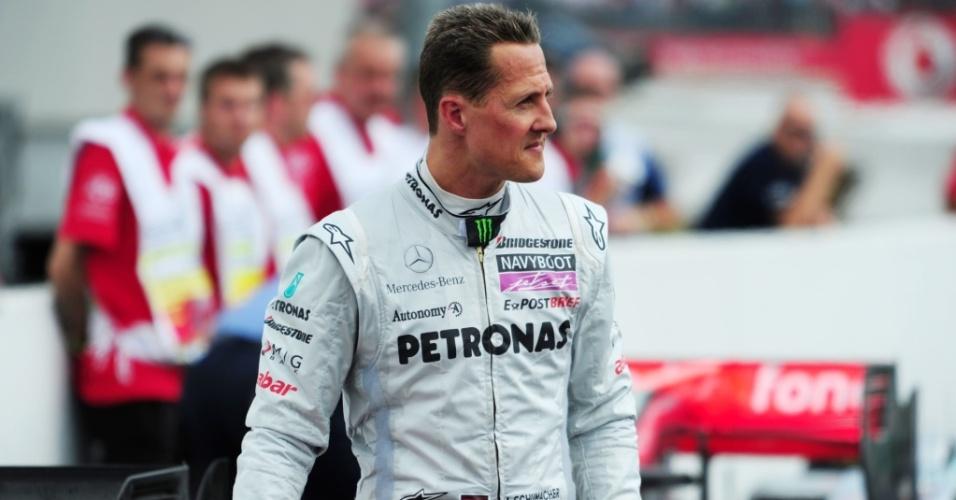 Michael Schumacher terminou na nona posição o Grande Prêmio da Alemanha