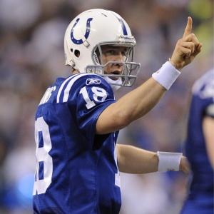 Destaque do jogo, Peyton Manning lançou três passes para touchdown na vitória dos Colts