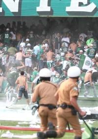 Após tumulto, envolvidos serão barrados no Couto Pereira