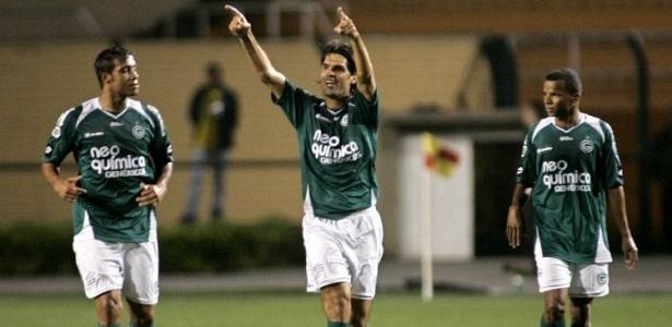 Fernandão do Goiás comemora gol marcado em cima do Corinthians